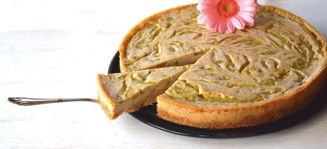 Cheesecake vegan mit Kiwiswirl